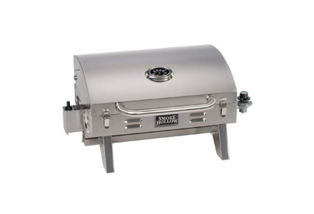 2. Smoke Hollow 205 Stainless steel Table Top Propane Gas Grill.