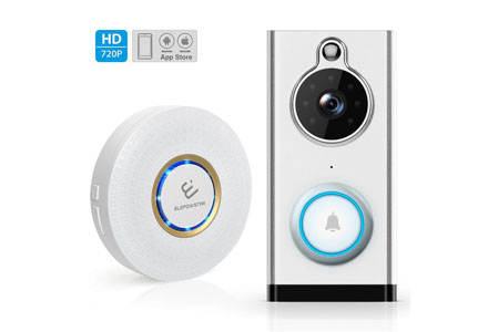 6.ELEPOWSTAR Wireless Video DoorBell with Chime.