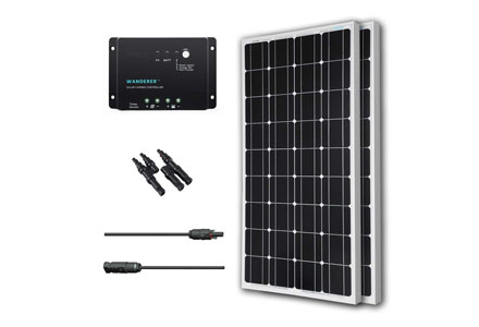 10. Renogy 200 Watts 12 Volts Monocrystalline Solar Bundle Kit w/ 100w Solar Panel