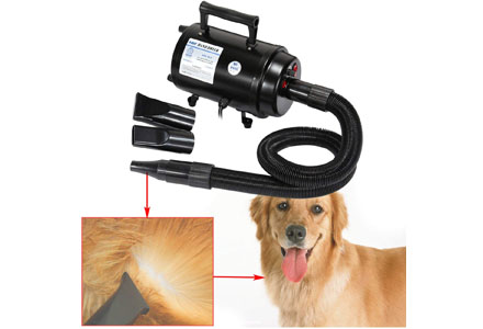 4. Ridgwyard 2800 Cats and Dogs Hair Blow Dryer Pet Grooming Home bathing Draw Dryer.