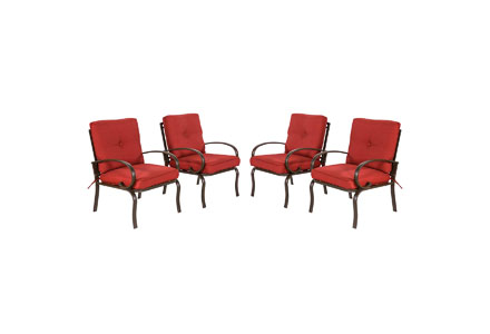 8. Cloud Mountain Set of 4 Patio Club Chairs Outdoor Patio Dining Chairs