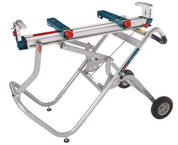 3. Bosch Portable Gravity-Rise Wheeled Miter Saw Stand