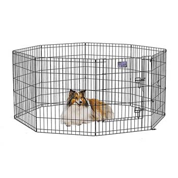 4. MidWest Exercise Pen/Pet Playpens – 8 –panels – 30H inches