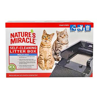 8.Nature's Miracle Nature's Miracle Multi-Cat Self-Cleaning Litter Box