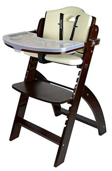 9: Abiie Beyond Wooden High Chair With Tray