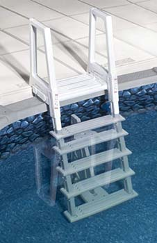 5: Confer Plastics 46-56 Inch Confer Above Ground Swimming Pool In-Pool Ladder Deluxe Pool Ladder