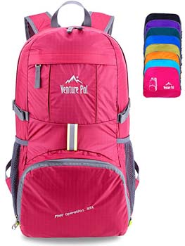 2. Venture Pal Lightweight Packable Durable Travel Hiking Backpack Daypack