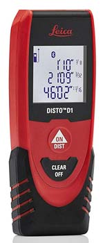 5. Leica DISTO D1 130ft Laser Distance Measure with Bluetooth