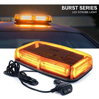 2. Xprite Burst Series 12V COB LED Amber/Yellow Roof Top Emergency Hazard Warning LED Lights