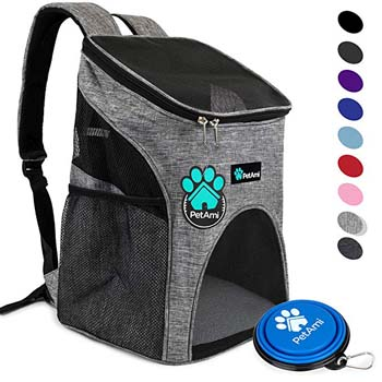 8. PetAmi Premium Pet Carrier Backpack for Small Cats and Dogs