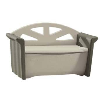 4. Rubbermaid Outdoor Patio Storage Bench