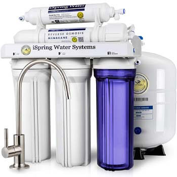 4. iSpring RCC7 5-Stage Residential Under-Sink Reverse Osmosis Water Filter System
