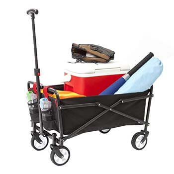 7. YSC Wagon Garden Folding Utility Shopping Cart
