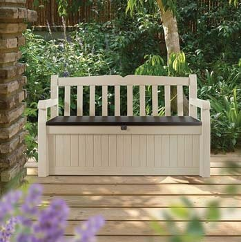 5. KeterEden Outdoor Resin All Weather Storage Bench