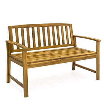 """5. Best Choice Products Outdoor 48"""" Acacia Wood Patio Garden Bench"""