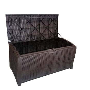 10. Outdoor Wicker Storage Box Patio Furniture
