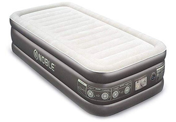 6. Noble Twin XL Size Comfort Double HIGH Raised Air Mattress