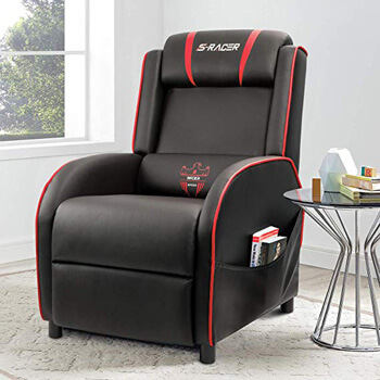 1: Homall Gaming Recliner Chair Single Living Room Sofa Recliner