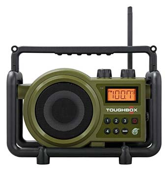 6: Sangean TB-100 (Toughbox) AM / FM / AUX-In Ultra Rugged Digital Tuning Rechargeable Radio