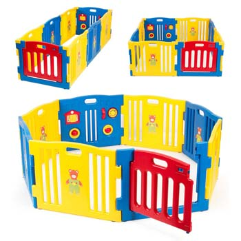 10. Kidzone Baby Playpen Kids 8 Panel Safety Play Center