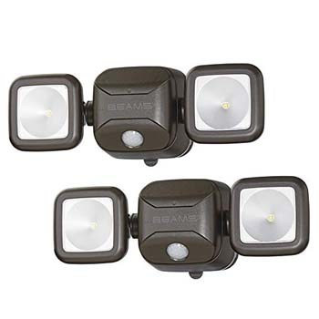 4. Mr. Beams MB3000 High Performance Wireless Battery Powered Motion Sensing Led Dual Head Security Spotlight