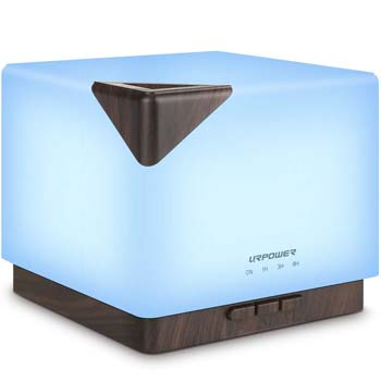 1: URPOWER 700ml Square Aromatherapy Essential Oil Diffuser Humidifier