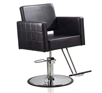 5. FlagBeauty Black Hydraulic Barber Styling Chair Hair Beauty Salon Equipment Round Base