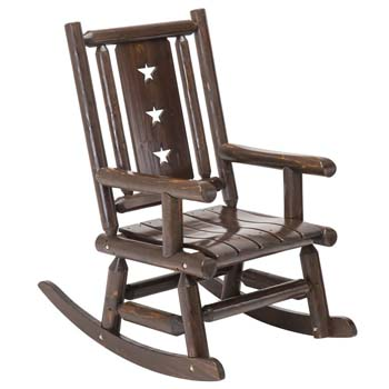 3. Wood Outdoor Rocking Chair