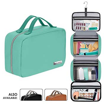 6: Leather Hanging Travel Toiletry Bag for Men and Women (Cruelty-Free)