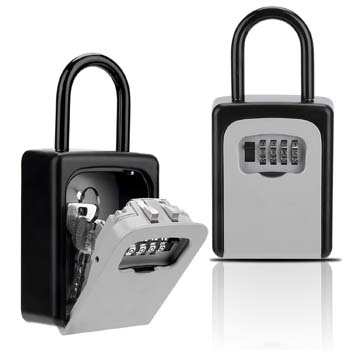 4.Key Lock Box, Combination Lockbox with Code