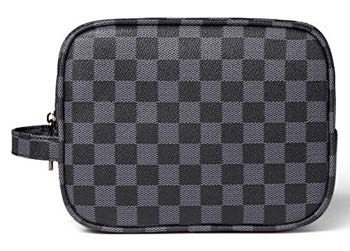 10: Daisy Rose Luxury Checkered Make up Bag